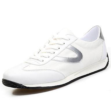 Homens sapatos Tecido Primavera Outono Conforto Tênis para Ao ar livre Preto Prata Verde