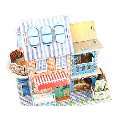 voordelige 3D-puzzels-3D-puzzels Legpuzzel Bouwplaat Modelbouwsets Huis Architectuur Bloem 3D DHZ Korkealaatuinen paperi Klassiek Jongens Unisex Geschenk