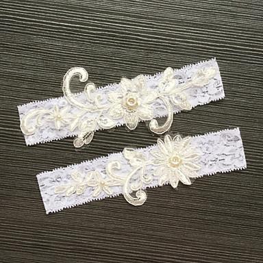 Garter Elastic Imitation Pearl Appliques Wedding Accessories Beautiful