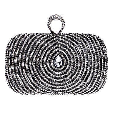 Women's Bags Polyester Evening Bag Rhinestone Gold / Black