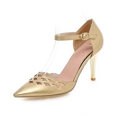 Mulheres Sapatos Sintético Couro Ecológico Verão Outono Conforto Inovador Saltos Caminhada Salto Agulha Dedo Apontado Presilha para