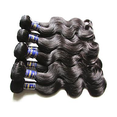 Peruvian Hair Body Wave Natural Color Hair Weaves Human Hair Weaves Natural Black
