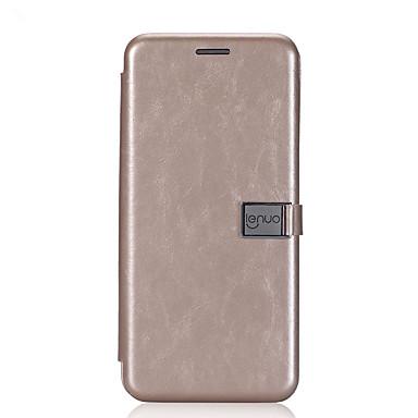 Capinha Para Samsung Galaxy S8 Plus S8 Porta-Cartão Flip Magnética Capa Proteção Completa Côr Sólida Rígida PU Leather para S8 Plus S8