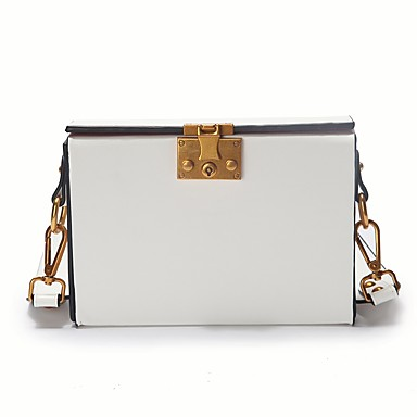 Women's Bags PU Crossbody Bag for Casual All Seasons White Black Red