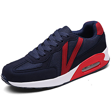 Homens sapatos Tule Verão Conforto Tênis Caminhada Cadarço para Casual Preto Cinzento Azul