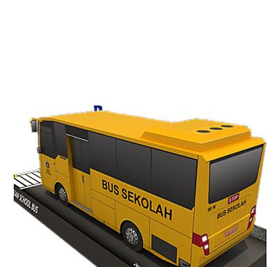 Lekebiler 3D-puslespill Papirmodell Papirkunst Kvadrat Buss 3D simulering GDS Hardt Kortpapir Klassisk Unisex Gave
