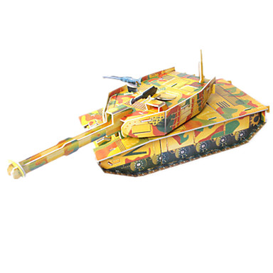 3D Puzzles Jigsaw Puzzle Model Building Kit Tank 3D DIY High Quality Paper Classic Kid's Girls' Boys' Unisex Gift