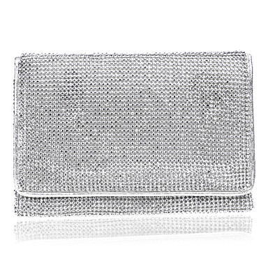 Women's Bags Polyester Evening Bag Rhinestone for Wedding Event / Party Formal All Seasons Gold Black Silver