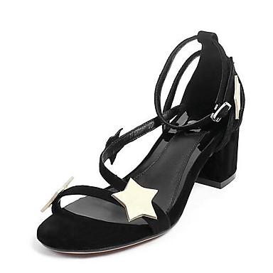 Women's Sandal Comfort Summer Nubuck leather Casual Black 2in-2 3/4in