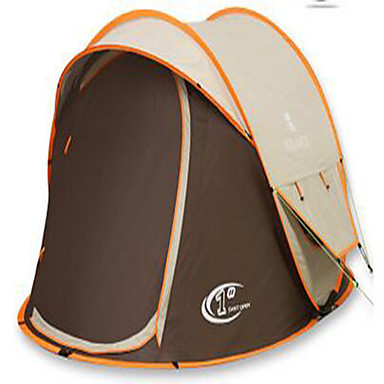 3-4 persons Tent Double Camping Tent Pop up tent Ultraviolet Resistant Rain-Proof for Camping / Hiking Other Material CM
