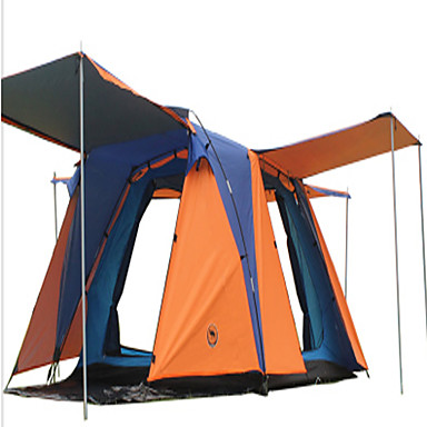 CAMEL 3-4 persons Tent Double Camping Tent One Room Automatic Tent Well-ventilated Waterproof Dust Proof Foldable for Camping / Hiking