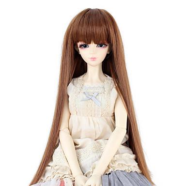 Perucas sintéticas Liso Com Franjas Mulheres boneca peruca Cabelo Sintético