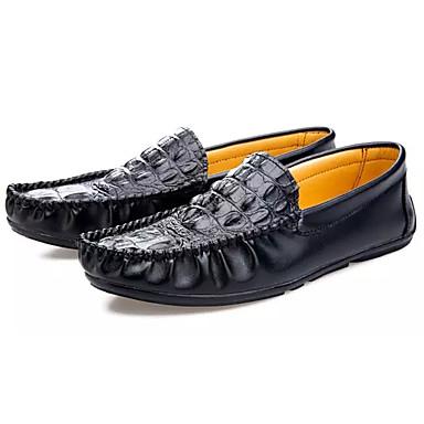 Homens sapatos Borracha Primavera Mocassim Mocassins e Slip-Ons para Ao ar livre Branco Preto Azul