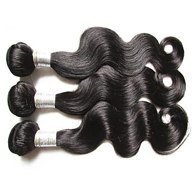 cheap 6a brazilian virgin hair body wave 3bundles 300g lot 100% human hair weaves natural black color