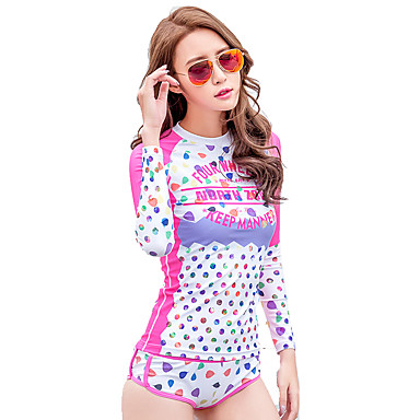 New Girls Split Snorkeling Clothes Dry Water Jellyfish Surfing Suits Long-Sleeved Diving Suits
