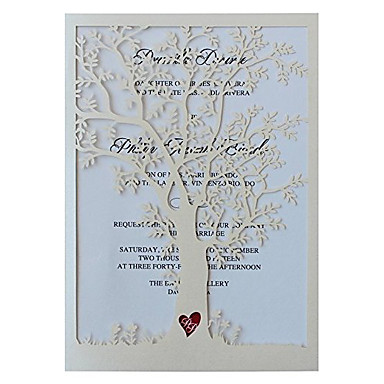 Dobrados Convites de casamento Convites para Festas de Noivado Convites para Chá de Casada Convites para Chá de Bebê Cartões para o Dia