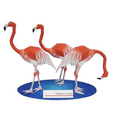 Quebra-Cabeças 3D Maquetes de Papel Brinquedos de Montar Quadrada Pássaro Animais Faça Você Mesmo Cartão de Papel Duro Clássico Para