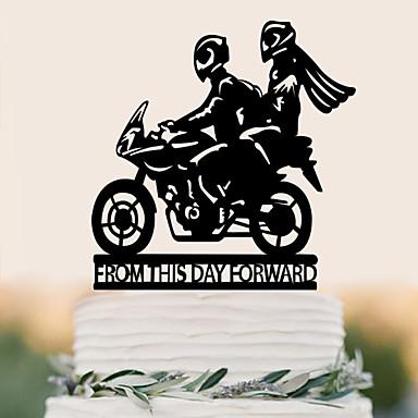 Decorações de Bolo Aniversário Casamento Alta qualidade Plástico Casamento Aniversário com 1 Bolsa PVS