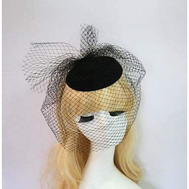 Resin Cotton Fascinators Hats 1 Wedding Special Occasion Halloween Birthday Party / Evening Casual Headpiece