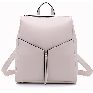 Women Shoulder Bag PU All Seasons Casual Outdoor Round Zipper White Black Fuchsia