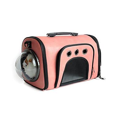 Gato Cachorro Tranportadoras e Malas Animais de Estimação Transportadores Portátil Respirável Sólido Cinzento Rosa claro