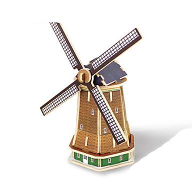 voordelige 3D-puzzels-Robotime 3D-puzzels Legpuzzel Houten modellen Windmolen Beroemd gebouw DHZ Puinen Klassiek Kinderen Unisex Speeltjes Geschenk
