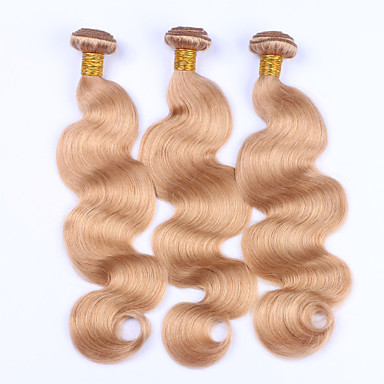 3 Bundles Brazilian Hair Body Wave Human Hair Precolored Hair Weaves Human Hair Weaves Human Hair Extensions