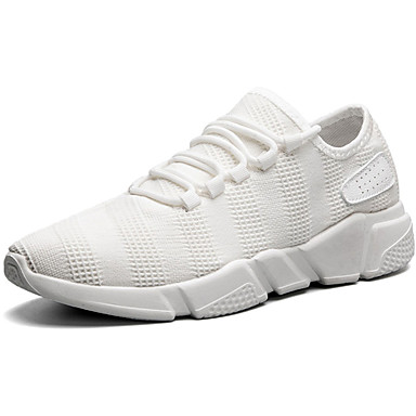 Men's Shoes PU Spring / Fall Comfort Sneakers White / Black / Gray