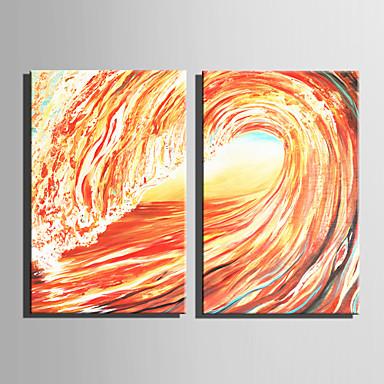 Pintados à mão Abstrato Vertical, Moderna Modern Tela de pintura Pintura a Óleo Decoração para casa 2 Painéis