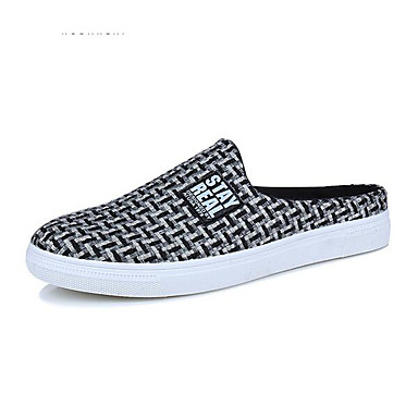Women's Shoes Linen Spring Summer Comfort Loafers & Slip-Ons For Casual White Black Red