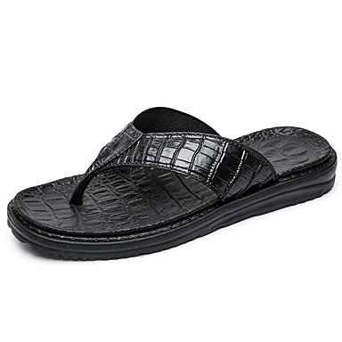 Men's PU(Polyurethane) Summer Comfort Slippers & Flip-Flops Silver / Blue / Dark Brown