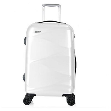 Men Travel Bag PU ABS+PC All Seasons Casual Outdoor Rectangle Zipper Blue White Silver Dark Green