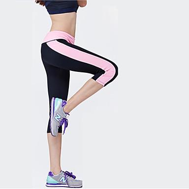 Mulheres Leggings de Corrida Fitness, Corrida e Yoga 3/4 calças justas Calças Ioga Exercício e Atividade Física Corrida Preto