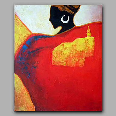 Håndmalte Mennesker Lodrett, Moderne Lerret Hang malte oljemaleri Hjem Dekor Et Panel