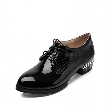 Mulheres Sapatos Couro Ecológico Sintético Verão Outono Inovador Conforto Saltos Caminhada Salto Agulha Ponta Redonda Cadarço para