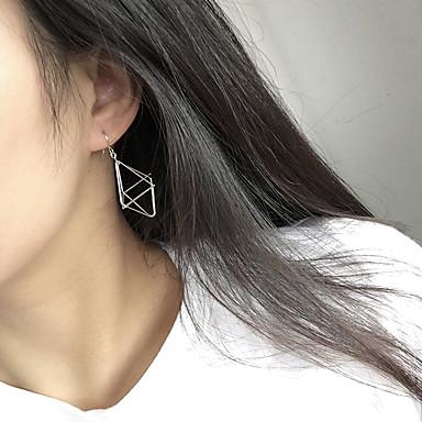 Mulheres Brincos Compridos - Fashion / Euramerican Dourado / Preto / Prata Forma Geométrica Brincos Para Casual