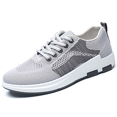 Men's Shoes PU Spring Summer Comfort Sneakers for Casual Black Gray