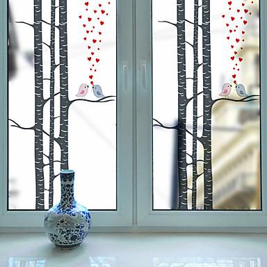 Print Christmas Window Sticker, PVC/Vinyl Material Window Decoration Living Room Bath Room Shop /Cafe Kitchen