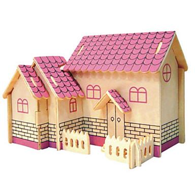 3D Puzzles Metal Puzzles Wood Model Model Building Kit Architecture DIY Natural Wood Classic Kid's Adults' Unisex Gift