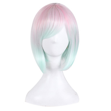 Synthetic Wig Straight Bob Haircut Synthetic Hair Natural Hairline Blonde Wig Women's Short / Medium Length Capless