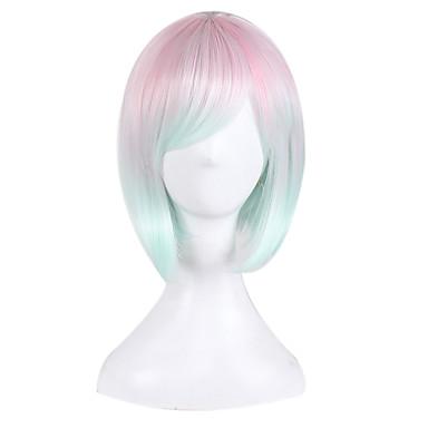 Női Szintetikus parókák Rövid Közepes Egyenes Rózsaszín Bob frizura Jelmez paróka jelmez paróka