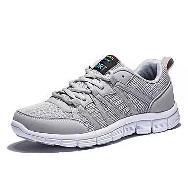 Homens sapatos Couro Ecológico Primavera Outono Conforto Tênis para Ao ar livre Preto Azul Escuro Cinzento Azul