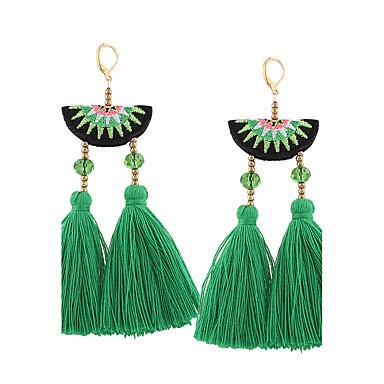 Mulheres Borla Boêmio Brincos Compridos - Borla Vintage Boêmio Euramerican Fashion Preto Verde Rosa claro Irregular Brincos Para