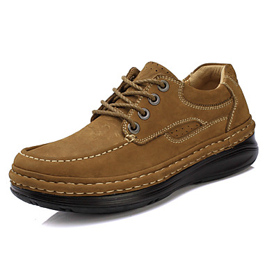 Unisex Oxfords Formal Shoes Fall Winter Nappa Leather Dress Party & Evening Black Light Brown 2in-2 3/4in