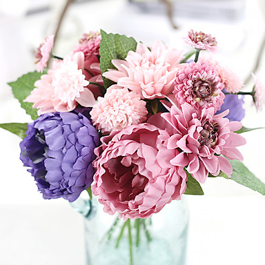 Művirágok 1 Ág Európai stílus Bazsarózsák Asztali virág