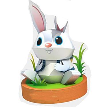 voordelige 3D-puzzels-3D-puzzels Bouwplaat Rabbit Dieren DHZ Hard Kaart Paper Kinderen Unisex Speeltjes Geschenk