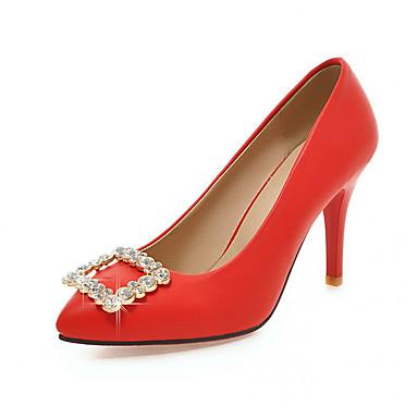 Mulheres Sapatos Sintético Couro Ecológico Verão Outono Conforto Inovador Saltos Caminhada Salto Agulha Dedo Apontado Pedrarias para