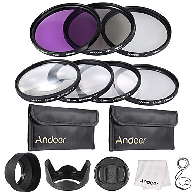 Andoer 62mm UV  CPL  FLD  Close-up(1 2 4 10)