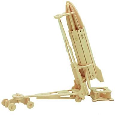 3D építőjátékok Fejtörő Wood Model Harci szekér DIY Fa Gyermek Uniszex Ajándék