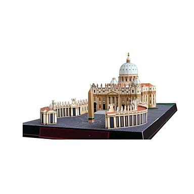 Quebra-Cabeças 3D Maquetes de Papel Artesanato de Papel Brinquedos de Montar Construções Famosas Igreja Arquitetura Catedral Faça Você